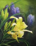 "Karen Sammons ""Daylily Delight"" 11 x 14 watercolor"